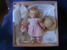 1951 WAVETTE HAIR DOLL #80 PRETTY IN PINK ORIGINAL IN CORRECT PINK BOX