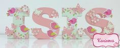 ** Veja também em: http://www.karinova.com.br  Letras 3D - Tema Jardim Encantado
