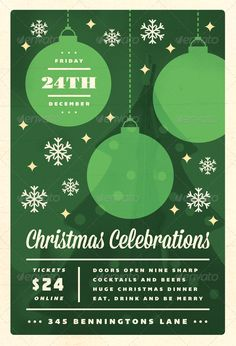 Celebrations - Christmas Flyer Template - Holidays Events