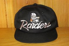 Los Angeles RAIDERS Original Vintage 90s  YOUTH Size  Sports Specialties Snapback  Hat Official Licensed NFL Football Script Deadstock Cap 77f54cc8e