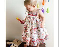 Sewing pattern Butterfly Dress  baby & girl's dress