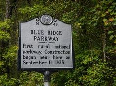 Blue Ridge Parkway Construction Beginning Point