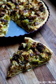 Vegane Rosenkohl-Quiche (Vegan Pizza Low Carb)