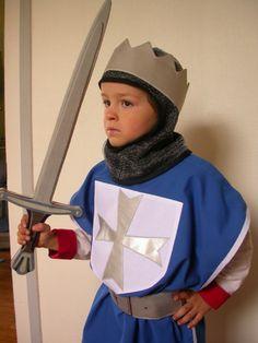 déguisement chevalier bleu 2