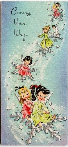 What a sweet Christmas card idea! This from a time when we were all more down to earth and light hearted.