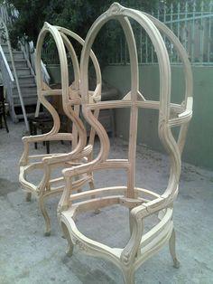 Armazón de silla de domo