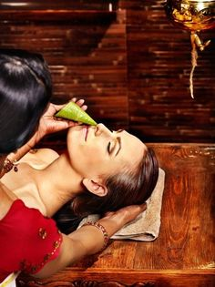 Nasya is considered to be one of the five most powerful therapeutictechniques in Ayurveda to clear your sinuses. Nasya is the nasal inhalation of herbalized oils into the sinuses. This can be done in an attempt to clean out lymphatic vessels in the brain – called the sagittal sinus.