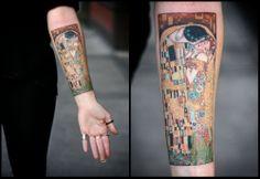 """Klimt """"Der Kuss"""" Tattoo"""