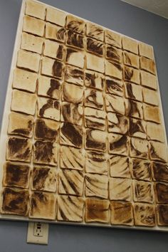 """Toast of Indian Country"" , made from 70 slices of toast, Steven Paul Judd."