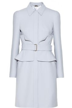 An ice blue Alexander McQueen coat, absolutely beautiful.