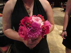 Dahlia Rose Hypericum Berry Bouquet  Flowers: Posy Flower Studio  Photo: Posy Flower Studio
