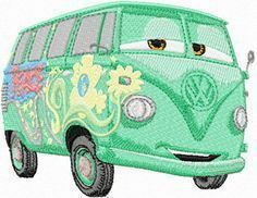 Free Disney Embroidery Designs | Fillmore Volkswagen bus machine embroidery design #machineembroidery #embroiderydesigns