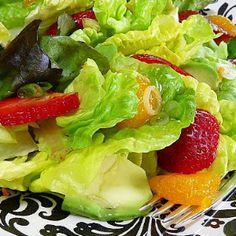 Spring Salad with Orange Walnut Vinaigrette |