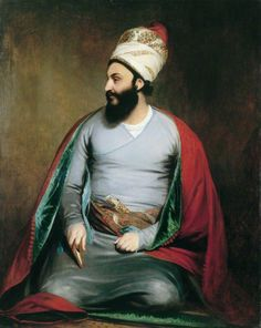 Mirza Abu'l Hassan Khan Ambassador for the Shah of Persia, William Beechey. In his diplomatic diary Abu'l Hassan describes visiting Beechey's house in Harley Street and his joy at meeting his children. Caspar David Friedrich, Empire Moghol, Compton Verney, Old Paintings, Portrait Paintings, Portraits, Vintage Paintings, Iranian Art, Art Uk