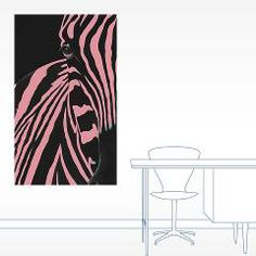 Pink Zebra 20x12 Wall Decal