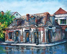 Lafitte's Blacksmith Shop, FREE SHIPPING! New Orleans French Quarter Art, New Orleans Print, New Orleans Art,New Orleans Artist Dianne Parks