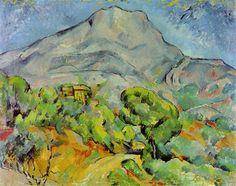 cezanne | Road near Mont Sainte-Victoire - Paul Cezanne - WikiPaintings.org