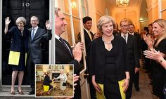 Jeremy Hunt, the Health Secretary, compared Theresa May (pictured) to the German Chancellor as he waits to find out if he will be promoted after spending three years with the tough health portfolio.