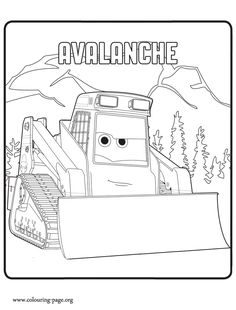 Avalanche is a character in the upcoming movie Planes 2: Fire and Rescue. He is also Dusty's friend. Have fun with this free Planes 2 coloring sheet!