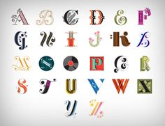 Typography alphabet design
