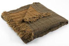 Pure linen blanket  Bedspread  Picnic blanket  Beach by byAneri