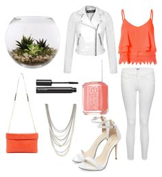 You know what they say, Orange is the new black. by brynn-cece-cunningham on Polyvore featuring polyvore, fashion, style, Glamorous, Miss Selfridge, Paige Denim, Trina Turk LA, Henri Bendel, Witchery, Essie and Home Essentials