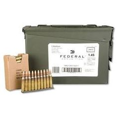 Federal Lake City NATO Full Metal Jacket Boat Tail, 55 Grain, 3240 fps , 420 Rounds packed in an Ammo Can Loaded On Stripper Clips, Full Metal Jacket Bullet, Bullet Types, Ammo Storage, Muzzle Velocity, Ammo Cans, All Fish, Target Practice, Fire Powers, Fish Camp