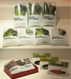 Nice #organic vegetable packaging by Dansun Hwang, via Behance PD