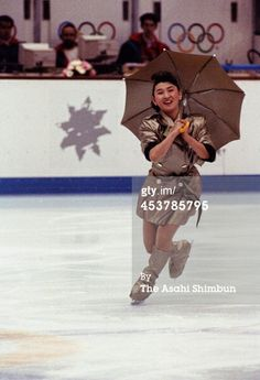 Albertville Olympic Figure Skating Caption: ALBERTVILLE, FRANCE - FEBRUARY 22: (CHINA OUT, SOUTH KOREA OUT) Midori Ito of Japan performs i...