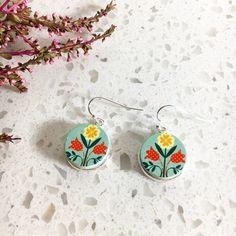 Handmade wooden earrings - Love Bird Fashion Accessories