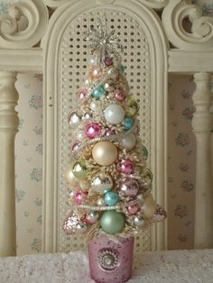 Ornament Christmas Tree #pastel #pink