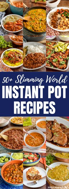 Over 50 Delicious and Healthy Slimming World Recipes that can be cooked in a Instant Pot or Pressure Cooker - all with Syn Value or Weight Watchers Smart Points food ideen ideas food food food King Pro Pressure Cooker Recipes, Multi Cooker Recipes, Instant Pot Pressure Cooker, Slow Cooker Recipes, Pressure King Pro, Pressure Cooker Times, Instant Pot Dinner Recipes, Healthy Dinner Recipes, Diet Recipes