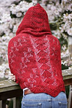 Jo's Pride Hooded Shawl by Sivia Harding, from Ravelry. (I wish I knew how to knit)