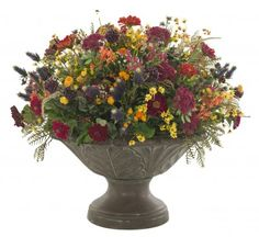 Love the mix of wildflower and dark colors for a bouquet.