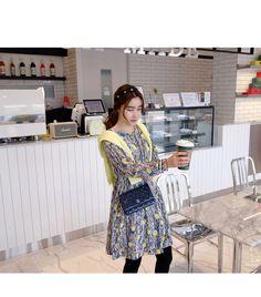 アーティスティック柄フェミニンワンピース -《公式》[Miamasvin] 愛してる、ミアマスビン!韓国レディースファッション, 最新トレンドアイテムが毎日入荷!