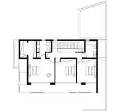 Plano casa dos pisos tres dormitorios