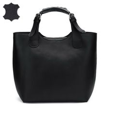 ea38c6b79e24 Nucelle Women s Top Handle Handbag Genuine Leather (Black) -- Good Dupe for  Zara Plaited Shopper