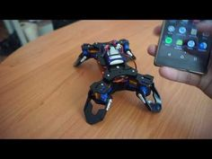 Fist build Quadruped robot with android as controller and the accelerometer sensor 3d Printer Projects, Arduino Projects, Electronics Projects, Technology Design, Technology Gadgets, Tech Gadgets, Arduino Wireless, Robotics Engineering, Diy Robot