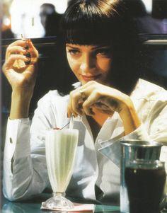 Uma Thurman in Pulp Fiction.