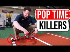 In this video we talk about how to improve catcher pop time by focusing on avoiding 3 Pop Time Killers! If you want to be a successful catcher with an elite . Baseball Hitting Drills, Volleyball Drills, Volleyball Quotes, Coaching Volleyball, Volleyball Gifts, Baseball Dugout, Baseball Tips, Baseball Field Dimensions, Baseball Training
