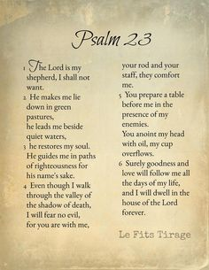 Psalm 23 Scripture The Lord is My Shepherd Instant Prayer Scriptures, Bible Prayers, Faith Prayer, God Prayer, Prayer Quotes, Bible Verses Quotes, Psalm 91 Prayer, Serenity Prayer, Powerful Scriptures