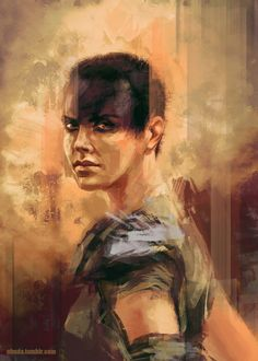So I still haven't seen the new Mad Max yet (in my country it hits cinemas this Friday), but it didn't stop me from doing some fan art of Charlize and her intense gaze :) If the movie turns out as awesome as I hope, this probably not the last MM painting I did.