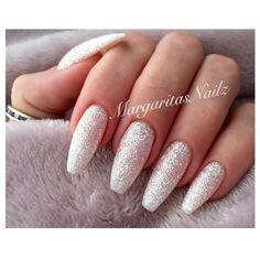 awesome Diamond glitter coffin nails  Margarita P...