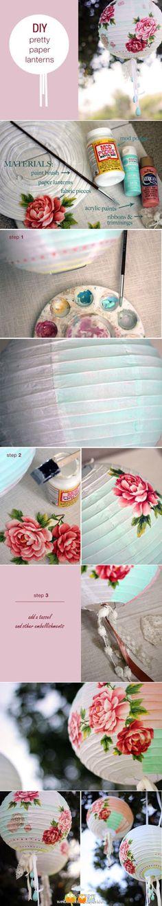 DIY pretty paper lanterns so original!