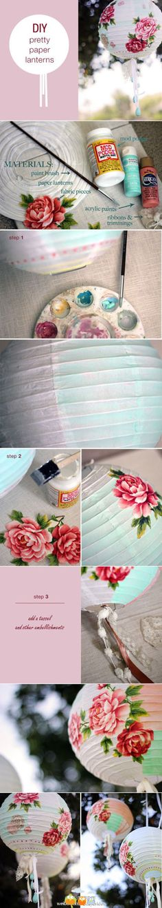DIY pretty paper lanterns so original!