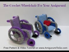 How To Crochet A Wheelchair. So darling, I must make one for our office reception area.