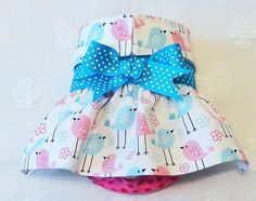 Female Dog Diaper Skirt  Perfect for your dog in Season and House Training Birds and Dots by piddleronthewoof on Etsy