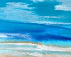 Contemporary Abstract Seascape Art Painting Coastal Art Royal Wave -Study -1 by International Contemporary Landscape Artist Kimberly Conrad, painting by artist Kimberly Conrad