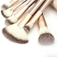 Professional 24pcs Makeup Brush Set with Leather Case