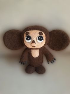 Cheburashka. Needle felted sculpture. USSR. by Juliwooldream